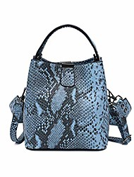 cheap -snakeskin bucket purse bag for women,envelope clutch bag retro evening bag handbag shoulder crossbody bag (white)