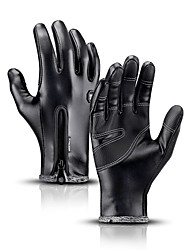 cheap -Bike Gloves / Cycling Gloves Touch Gloves Skidproof Protective Durable Full Finger Gloves Sports Gloves Fleece Black for Adults' Outdoor Exercise