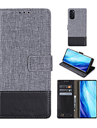 cheap -Phone Case For OPPO Full Body Case Leather Oppo Find X2 OPPO A71 OPPO A57 OPPO A53 OPPO A37 OPPO R9s oppo R17 oppo F7 OPPO Reno3 Oppo Reno 4 Card Holder Shockproof with Stand Solid Color PU Leather