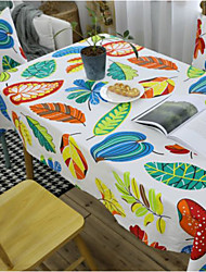 cheap -Table Cloth Nordic Modern Tablecloth Tablecloth Tea Table Cloth Colored Leaves