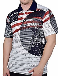 cheap -men's 100% polyester tech fabric patriotic polo shirt | american flag, eagle, declaration of independence & #40;s, wtpeople& #41;