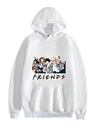 cheap -Inspired by My Hero Academia / Boku No Hero Friends Midoriya Izuku Hoodie Polyester / Cotton Blend Graphic Prints Printing Hoodie For Men's / Women's