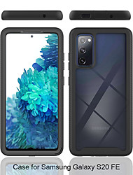cheap -Phone Case For Samsung Galaxy Back Cover S20 Ultra S20 FE 5G Note 20 Ultra Shockproof Translucent Armor Geometric Pattern Armor TPU PC