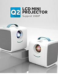 cheap -Q2 Mini Projector  Pocket Projector 700 Lumens Portable Projector HDMI USB AV Port Mini LED HD 1080P Projector Home Theater Christmas Gift for Kids Children
