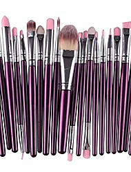 cheap -20pcs make up brush sets, foundation eyebrow eyeliner blush cosmetic concealer brushes (purple and silver)