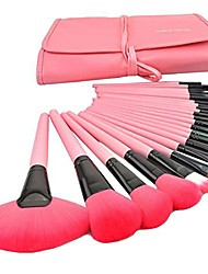 cheap -24pcs professional makeup brush set kit brushes tools make up case pink