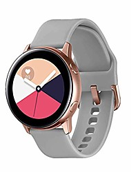cheap -galaxy watch active bands,20mm quick release bands compatible for samsung galaxy watch active (40mm)/galaxy watch(42mm)/gear sport with rose gold watch buckle (gray, large)