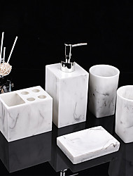 cheap -Bathroom Accessories Set 5 Piece Ceramic Complete Bathroom Set for Bath Decor Includes Toothbrush Holder Soap Dispenser Soap Dish Holder and 2 Mouthwash Cup