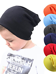 cheap -Boys' Girls' Hiking Cap Beanie Hat 1 PCS Winter Outdoor Windproof Warm Soft Thick Skull Cap Beanie Solid Color Woolen Cloth White Black Purple for Fishing Climbing Running