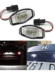 cheap -2Pcs 2W 12V 6500K White 18 LED License Plate Lights For Acura RL TSX RDX Honda Civic Accord