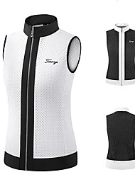 cheap -Women's Golf Vest / Gilet Sleeveless Thermal Warm Lightweight Breathable Sports Outdoor Autumn / Fall Winter Spring Nylon White Black / Stretchy