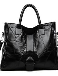cheap -Women's Bags Leather Top Handle Bag Zipper Daily Date 2021 Handbags Black