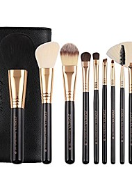 cheap -2018 hot sale women 10 pcs soft makeup brush set tools make-up toiletry kit (d)