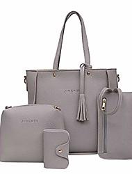 cheap -handbags for women,tigivemen womens shoulder bags tote satchel hobo 4pcs purse set (gray)