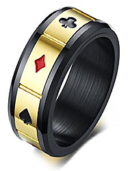 cheap -unique design ring-men's band rings playing card poker ring wedding rings engagement rings promise rings rotating ring