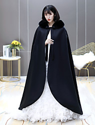 cheap -Sleeveless Coats / Jackets / Capes Fauxfur Wedding / Party / Evening Shawl & Wrap / Women's Wrap With Lace-up