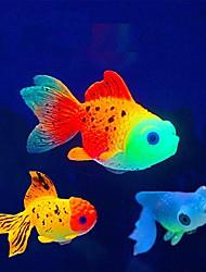 cheap -Fish Tank Aquarium Decoration Fish Bowl Artificial Fish Random Color Luminous Cute Special Material 2 8.0*4.5*3.5 cm