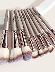 cheap -9 Makeup Brush Set Round Barrels Beauty Tools Makeup Brush Set Wooden Handle