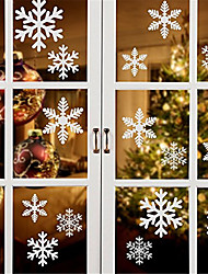 cheap -Christmas Snowflake Window Sticker Christmas Wall Stickers Room Wall Decals Christmas Decorations for Home New Year