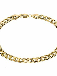 cheap -14k white gold plated 7mm cuban link flat chain anklet for women men, curb chain ankle bracelet for women men 9 10 11 inches (10, 14k-gold-plated)