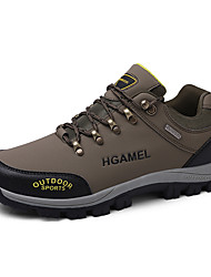cheap -Men's Hiking Shoes Outdoor Hiking Boots Anti-Slip Thermal Warm Comfortable Water Proof Steel Buckle Outsole Pattern Design Camping Hiking Hunting Fishing Camel Black Army Green Fall Spring