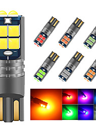 cheap -2PCS canbus W5W LED T10 LED 12V-24v car interior light 194 5016 SMD 10SMD 3030 LED Instrument Lights bulb Wedge light no error