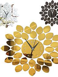 cheap -Leaves / Wall Clock / Botanical Wall Stickers Mirror Wall Stickers Decorative Wall Stickers, Acrylic Home Decoration Wall Decal Wall Decoration 1pc