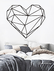 cheap -Nordic Style Geometry Art Wall Sticker For House Decoration Living Room Bedroom Decor Art Decals Mural Vinyl Wall Stickers Heart 50*57cm