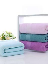 cheap -Superior Quality Bath Towel, Solid Colored Pure Cotton Bathroom 1 pcs