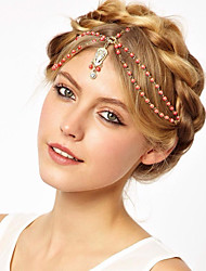 cheap -American Indian Headdress Adults' Bohemian Style / Vacation Dress Women's Golden Artificial Gemstones / Alloy Party Cosplay Accessories Halloween / Carnival / Masquerade Costumes / Headwear / Female