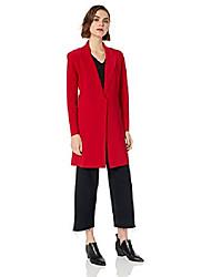 povoljno -ženski jednoredni kaput do koljena, crveni, xl