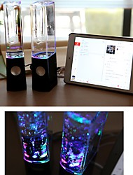 cheap -LED Light Fountain Light Speakers 2PCS Colorful Lights Dancing Water Music for PC Laptop For Phone Portable Desk Stereo Speaker