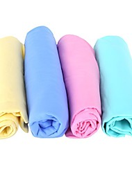 cheap -3Pcs PVC Suede Car Wash Towel Cleaner Accessories For Car Care Household Cleaning Cloth Random Color
