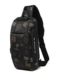 cheap -Men's Bags Oxford Cloth Sling Shoulder Bag Chest Bag Zipper Daily Outdoor 2021 MessengerBag Gray Green Black Blue Red