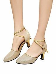 cheap -2019 high-heel glitter lady tap latin ballroom tango salsa dancing shoes women latin dance shoes