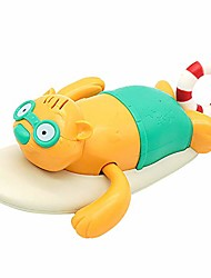 cheap -pull string baby bath toy pull & go beaver cute surfing beaver swimming beaver windup clockwork bathtub toy for toddlers (blue)