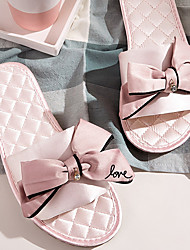 cheap -Women's Slippers & Flip-Flops Indoor Slippers Outdoor Slippers Flat Heel Open Toe Sweet Preppy Daily Home Satin Bowknot Pink