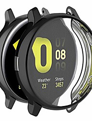 cheap -for samsung galaxy watch active 2 sm-r820 case cover - full coverage tpu protective case cover for samsung galaxy watch active 2 44mm sm-r820(tpu black)