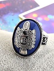 cheap -Ring Synthetic Sapphire Geometrical Silver Alloy European 1pc Middle Finger