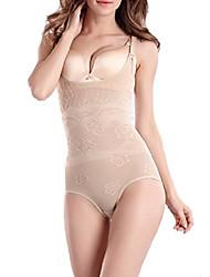 cheap -women's body briefer tummy control waist cincher shapewear bodysuit (l, apricot)