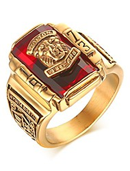 cheap -stainless steel red rhinestone 1973 walton tigers signet ring for men,18k gold plated size 10