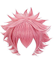 cheap -my hero academia anime ashido mina cosplay wig pink (pink)