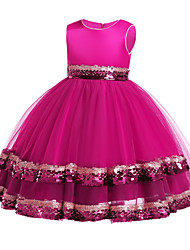 cheap -Princess Dress Party Costume Flower Girl Dress Girls' Movie Cosplay Princess Black / Purple / Red Dress Children's Day Masquerade Polyester