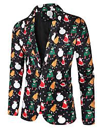 cheap -Men's Single Breasted One-button Notch lapel collar Blazer Christmas Black M / L / XL