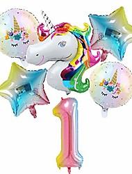 cheap -unicorn birthday party balloons decorations for girls 1st party, large unicorn balloons party supplies