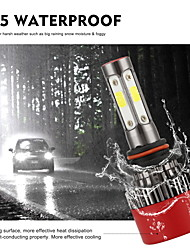 cheap -2PCS 4LED Car Headlight Bulbs High Low Beam Headlamps or Fog Lights Day Driving Lights 60W Super Bright Temperature 6000K Cool White H7 9005 9006 H11 H4