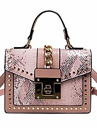 cheap -small crossbody bags for women studded pu leather handbags small leather shoulder bags (pink)