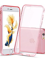 cheap -case for iphone 6 and iphone 6s crystal clear shock absorption tpu rubber gel transparent (pink)