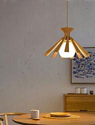 cheap -33 cm Nordic Style Wood Pendant Light Metal Artistic Style Sputnik Industrial Painted Finishes Artistic 110-120V 220-240V