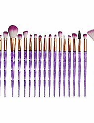 cheap -okdeals premium makeup brush set 20 pcs professional diamond eye shadows powder foundation concealer make up brushes kit(purple)